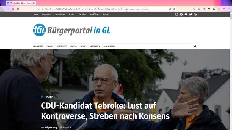 Screenshot in-gl.de