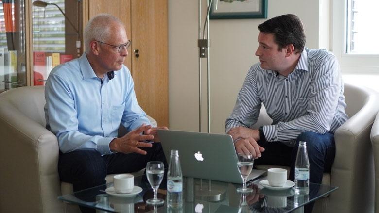 Dr. Hermann-Josef Tebroke im Gespräch mit Uwe Pakendorf